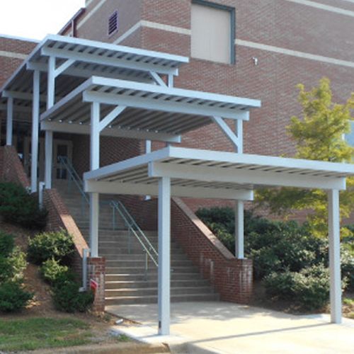 Metal Walkway Covers and Canopies