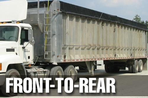 Custom front to rear trailer tarps