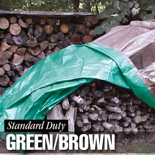Dize Weathermaster Standard Duty Green/Brown Poly Tarp